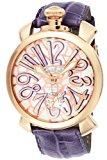 [ガガミラノ]GaGa MILANO 腕時計 マニュアーレ48mm サンドベージュ文字盤 ステンレス(PGPVD)ケース カーフ革ベルト 手巻き スイス製 5011MOSAICO1S メンズ 【並行輸入品】