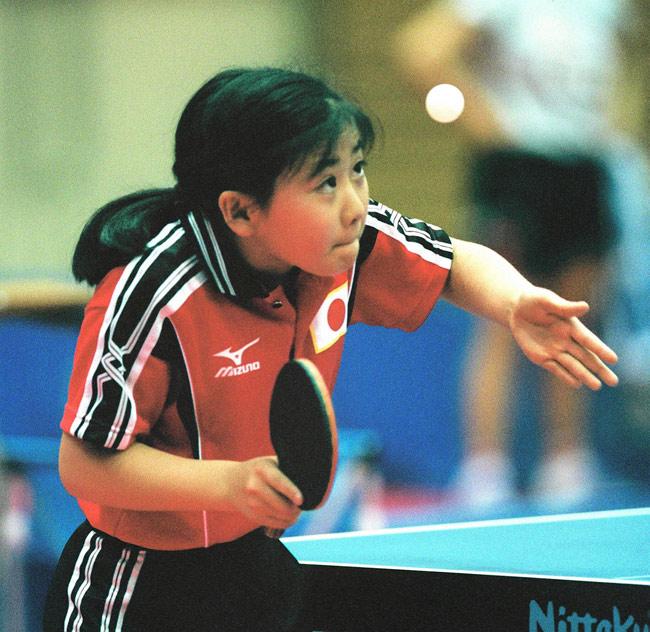 2003年世界卓球選手権個人戦に出場し、日本勢の中で一人躍進、ベスト8に進出