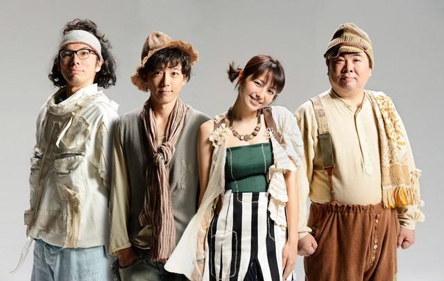 左からアクロ(高橋一生さん)、バイス(片桐仁さん)、マッツ(長澤まさみさん)、リオ(塚地武雅さん)