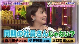 テレビ番組でその相手を詮索される小林麻耶さん