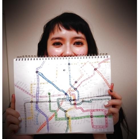 自作の路線図を公開