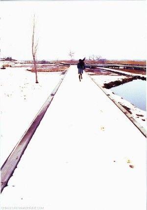 雪の中を走る姿