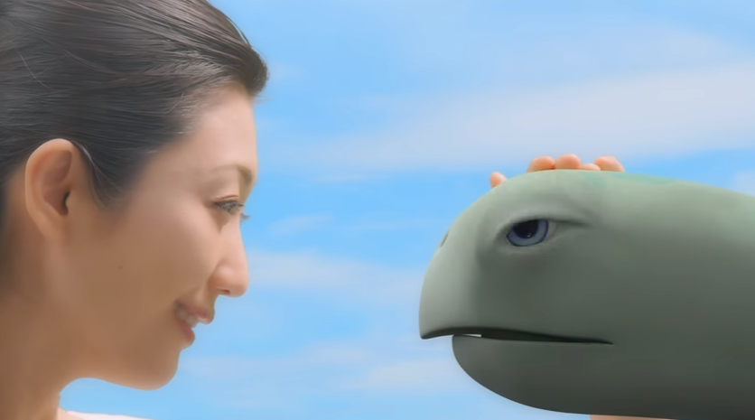 亀の頭を大きくし「上、乗ってもいいですか?」
