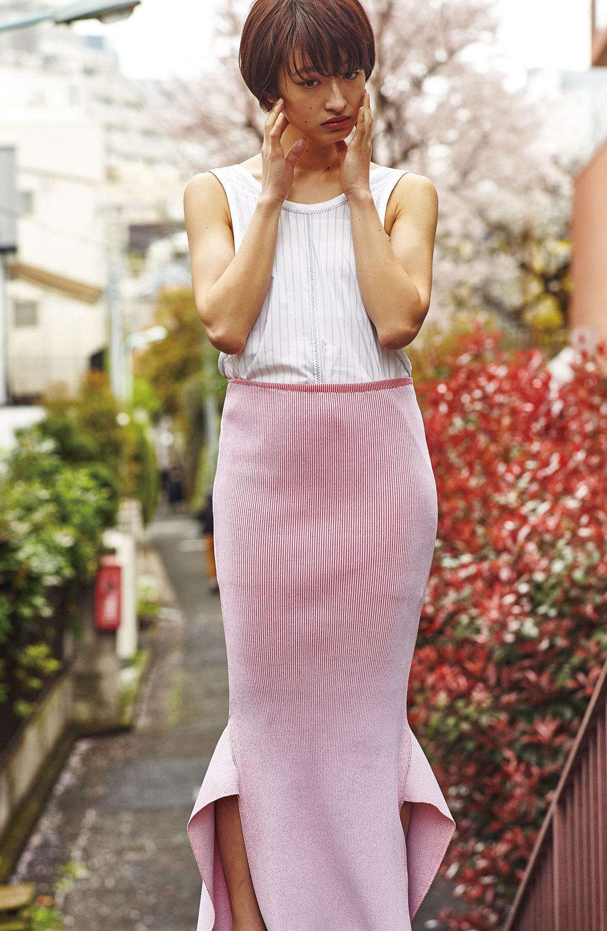 マーメイドラインのスカートの可愛い門脇麦