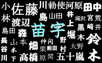 日本の名字は現在約17万種!