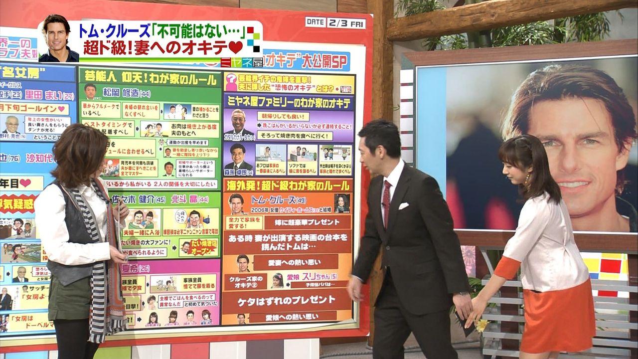 宮根誠司さんと川田アナが手を繋いでる?