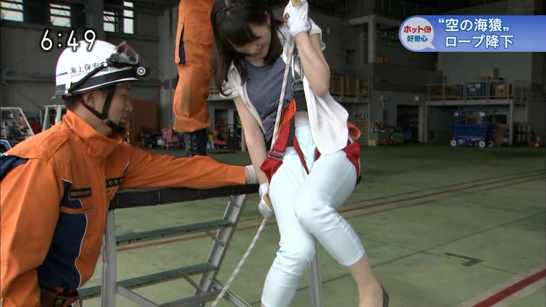 赤木野々花アナが降下訓練で股間にロープが食い込む放送事故 ...