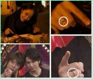 お揃いの指輪